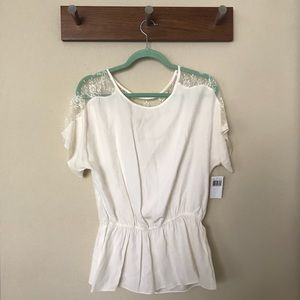Tops - NWT lace detail blouse